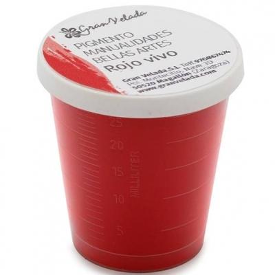 Pigmento para manualidades, Vermelho Vivo.