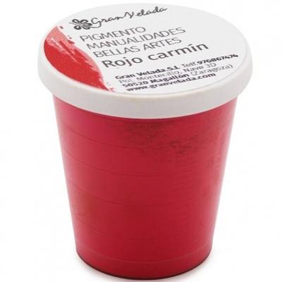 Pigmento para manualidades, Vermelho Carmín.