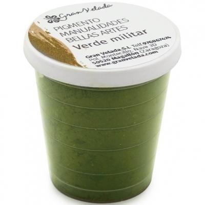 Pigmento para manualidades verde militar