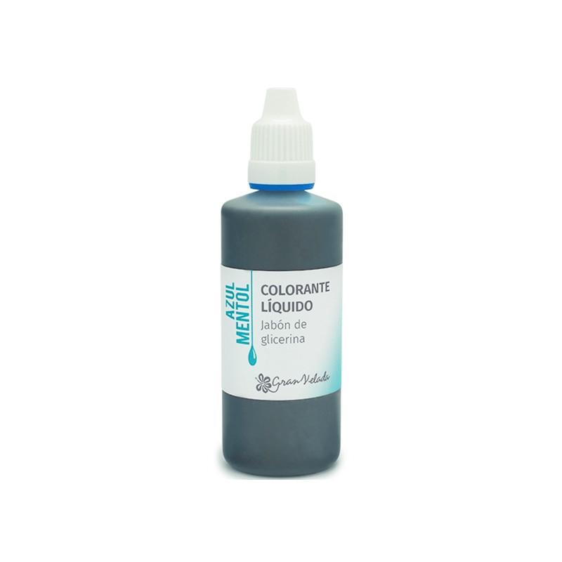 Colorante jabon glicerina azul mentol