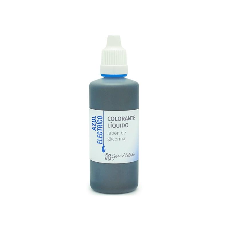 Colorante jabon glicerina azul electrico