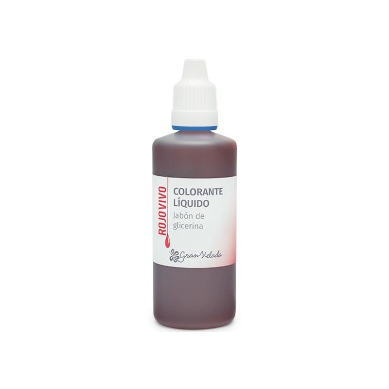 Colorante jabon glicerina rojo vivo