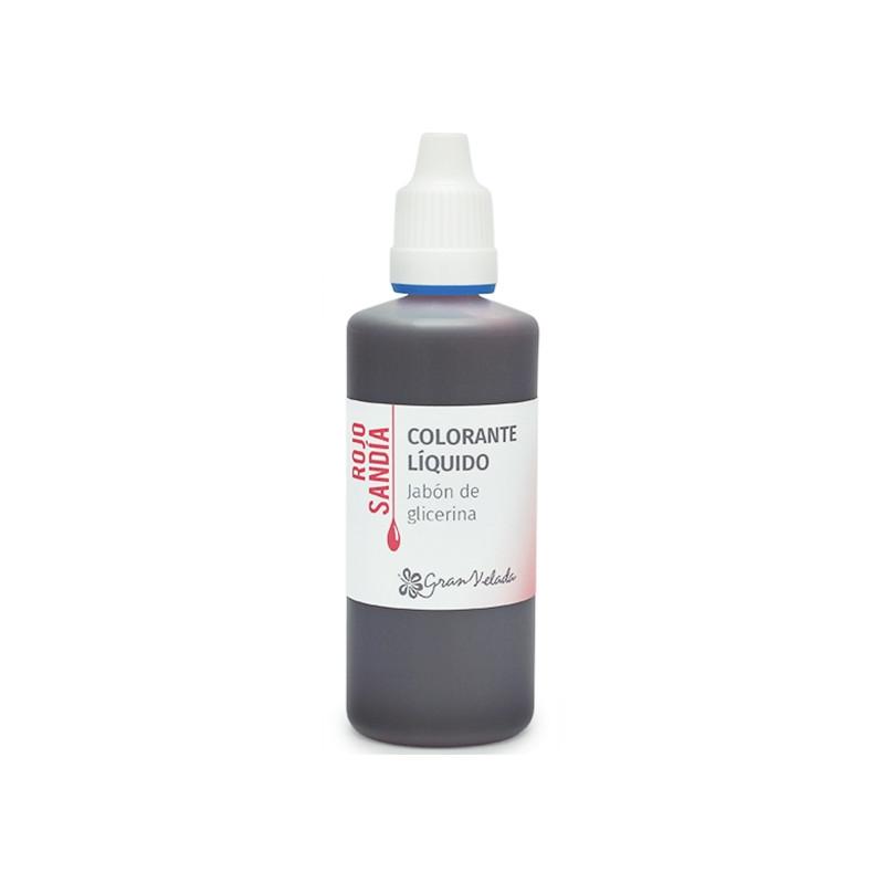 Colorante jabon glicerina rojo sandia
