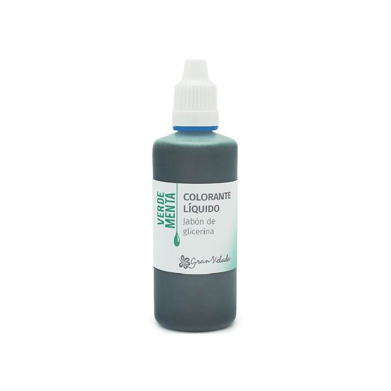 Colorante jabon glicerina verde menta