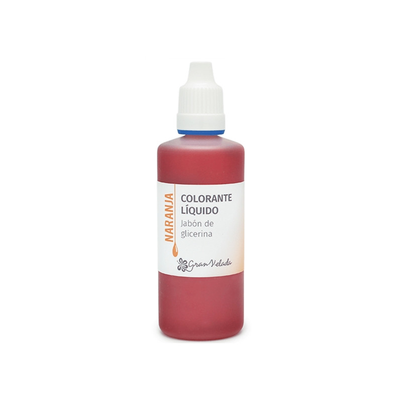 Colorante jabon glicerina naranja