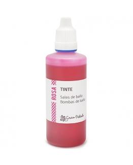 Tinte rosa bombas y sales de baño