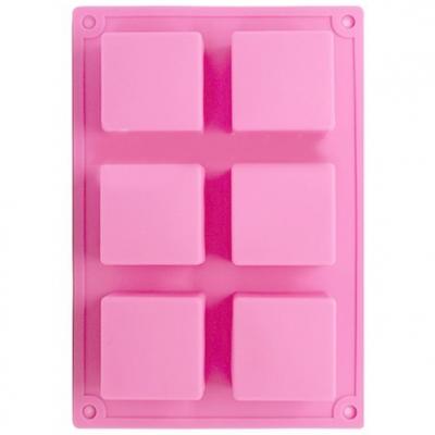 Molde 6 pastilhas quadradas
