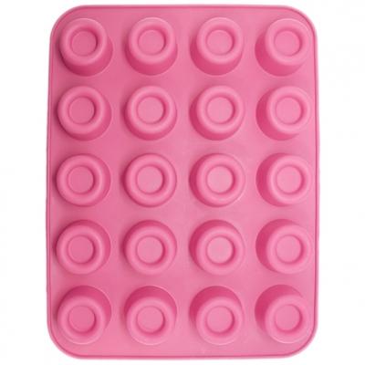 Molde de silicona 20 círculos rebordeados