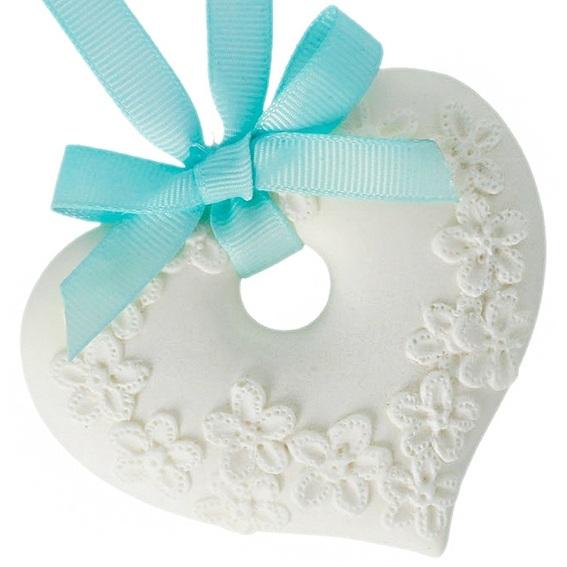 Molde ceramica perfumada corazon para colgar