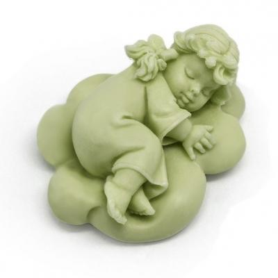 Molde para jabon angelito durmiendo en nube
