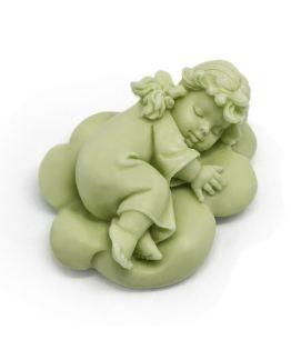 Molde para hacer jabones Angelito durmiendo en nube.
