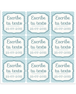 Pegatinas personalizables azules