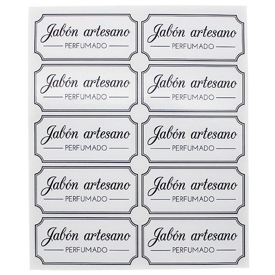 Pegatinas jabon artesano perfumado