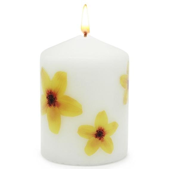 Adesivos transfer para velas flores