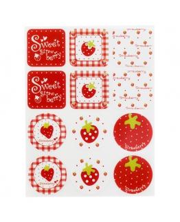 Pegatinas de fresas
