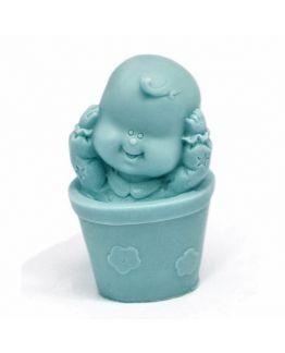 Molde de silicone de Bebê no vaso. (maceta)