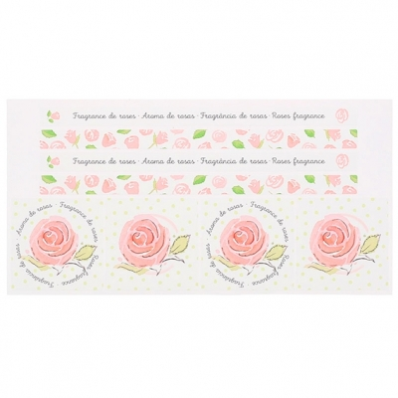 Adesivos decorativos fragrância de rosas