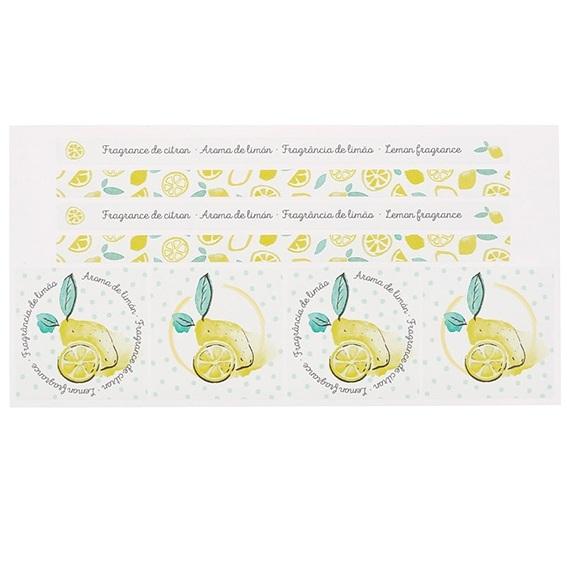 Adesivos decorativos fragrância de limão