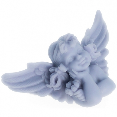 Molde angelito con alas abiertas