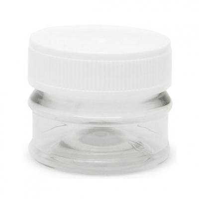 Tarros transparentes 30 ml tapa blanca