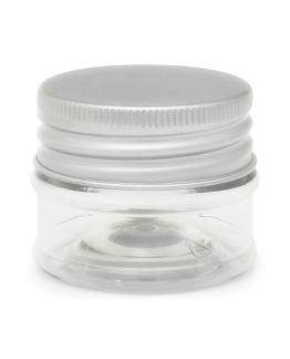 Tarro transparente cosmetico