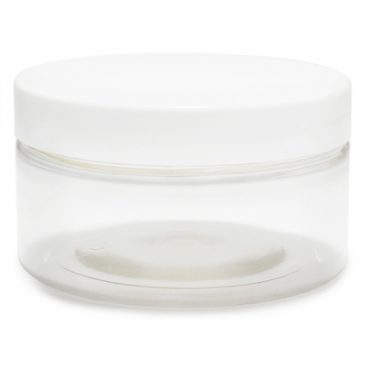 Boiao transparente 100ml tampa branca