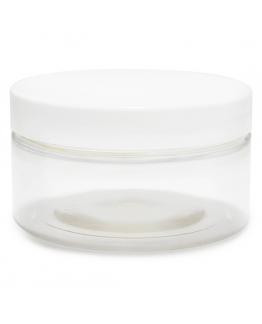 Tarro transparente 100 ml tapa blanca