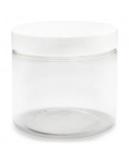 Tarros transparentes 200 ml tapa blanca