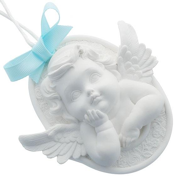 Molde medalha anjo da guarda