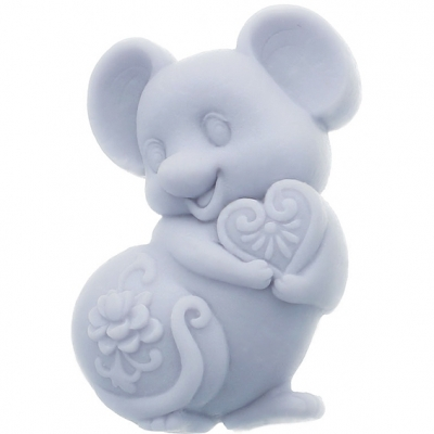 Molde de silicone ratinho charmoso