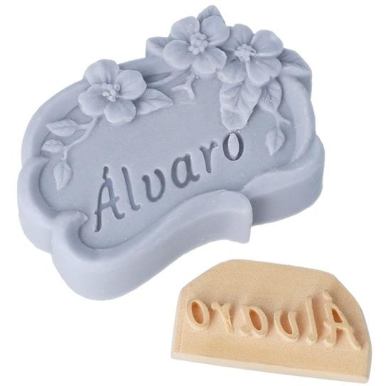 Carimbo personalizado para sabonetes