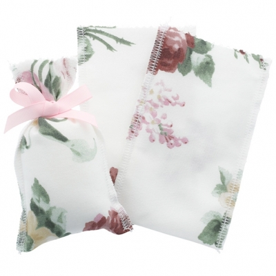 Saquinho de tela floreada