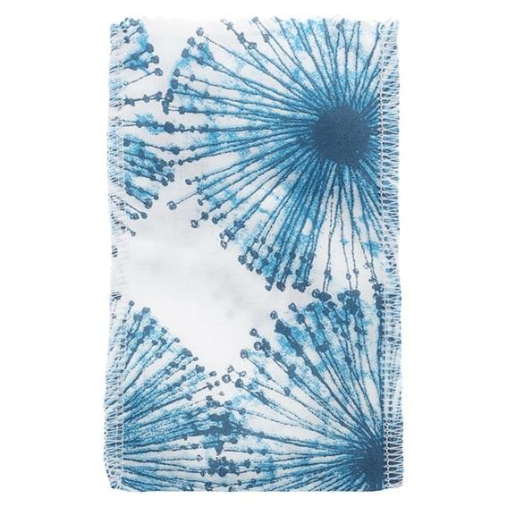 Saquinho de tela flor azul