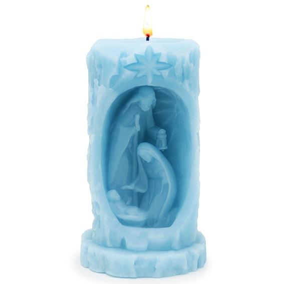 Molde vela nascimento em tronco de arvore