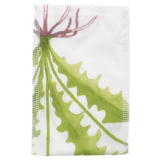 Saquinho de tela folhas verdes