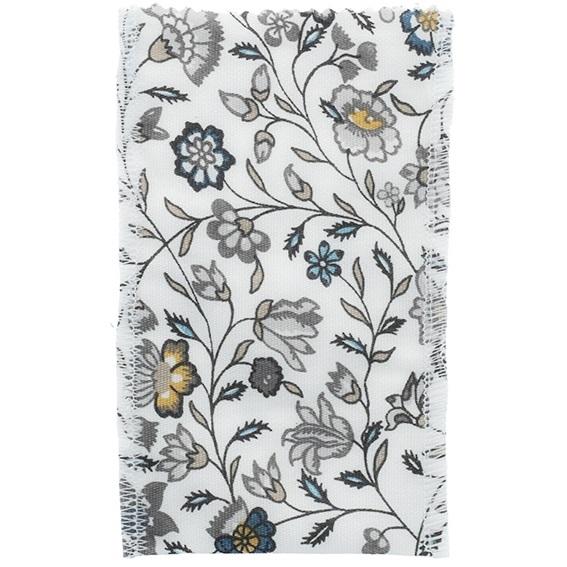 Saquinho de tela estampado floral