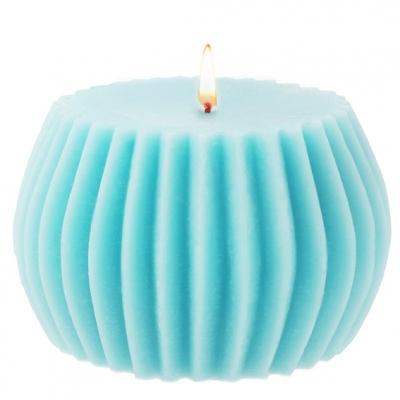 Molde vela diseño estriada