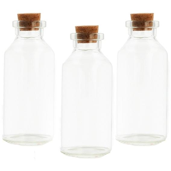 Mini botellas de cristal 30 ml corcho