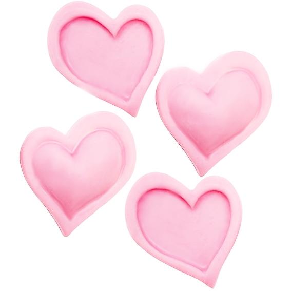 Molde de silicona 4 corazones comics
