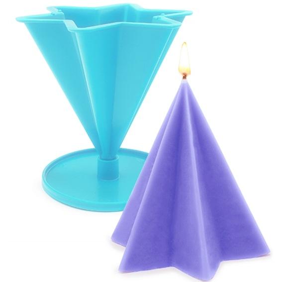 Molde para velas piramide estrellada