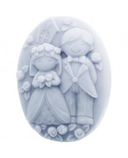 Formas de silicone para sabão noivos no altar