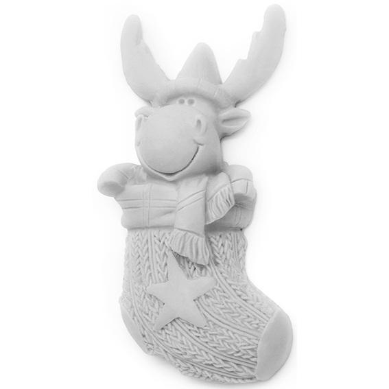 Molde calcetin de navidad con reno