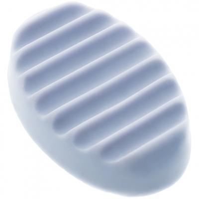 Molde silicone massajador listrado ovalado