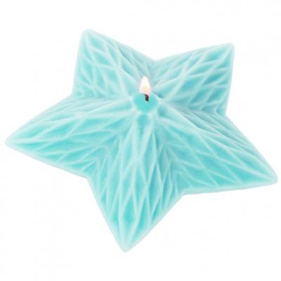 Molde para velas natalinas, Estrela Geométrica.