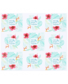 Pegatinas estampado tropical