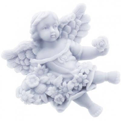 Molde angelito con frutas y flores