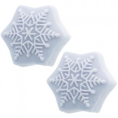 Molde para fazer velinhas e sabonetes, 2 estrelas de natal em relevo.