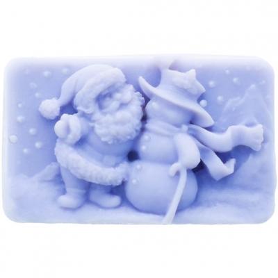 Molde papa noel y muñeco de nieve
