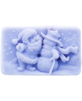 Forma de silicone pastilha Pai natal e boneco de neve