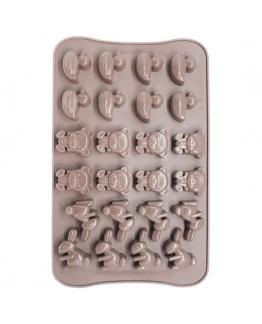Molde de silicone 24 bombons de animalzinhos